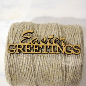 Easter greetings - napis