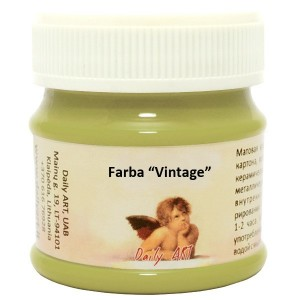 Farba kredowa 'Vintage', avocado / groszek, Daily ART, 50 ml