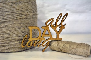 All day long - napis